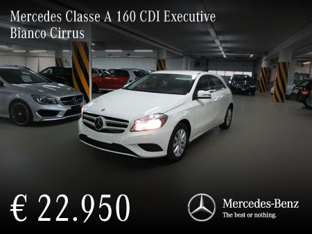 mercedes classe a 160 cdi executive bianco cirrus